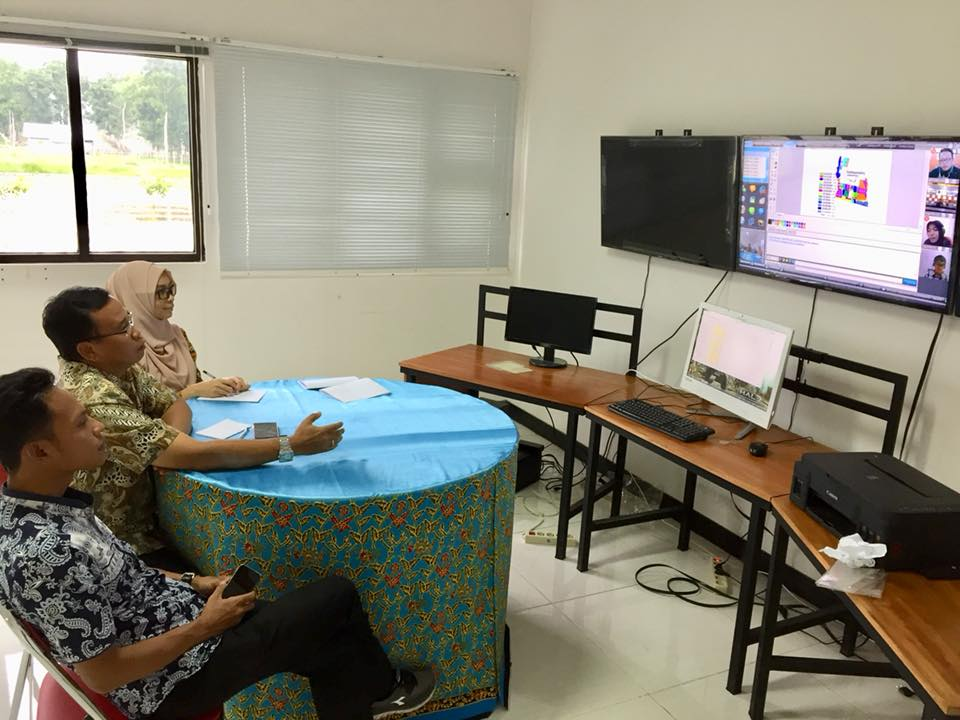 video konferensi antara pt.igg, telkom dan PTPN12